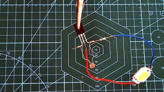 آموزش ساخت مدار ساده روشن شدن اتوماتیک LED در تاریکی