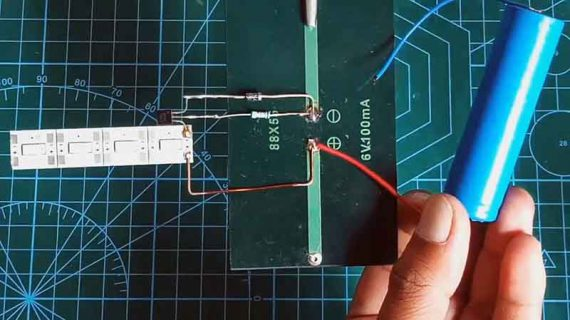 ساخت مدار شارژر خورشیدی LED و روشن شدن اتوماتیک در شب